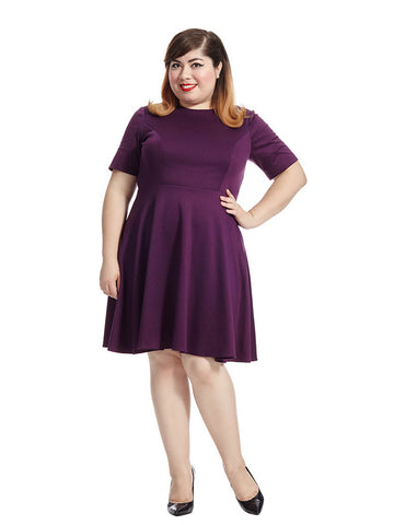 Amelie Dress In Eggplant