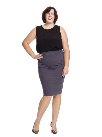Danube Jersey Skirt In Periscope Grey