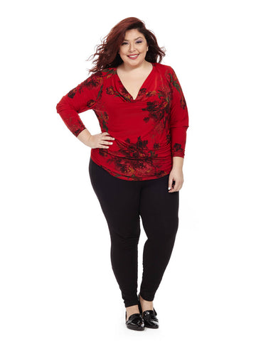 Ifyia Floral Print Blouse In Red