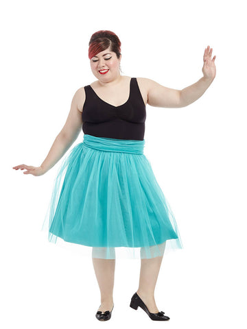 Twirling Tulle Skirt in Jade