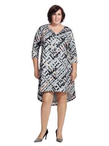 Electric Woven Printed Hi-Lo Dress