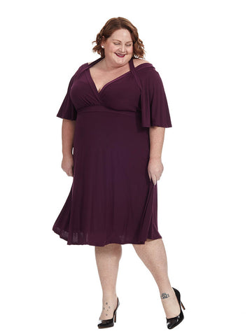 Starlet Dress In Pretty Plum