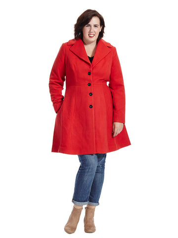 Scarlet Clean Cut Coat