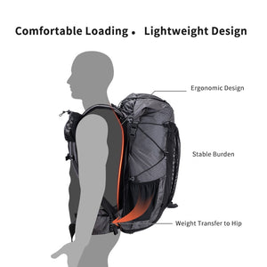Naturehike 60+5L Hiking Backpack - Ultralight with Free Rain Cover