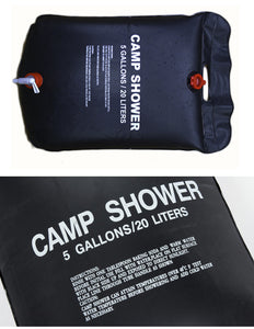 20L Camp Shower - Foldable Solar Energy Heated