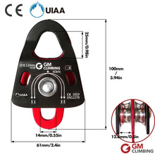 Load image into Gallery viewer, GM Canyoneering Double Rope Pulley CE / UIAA 40kN