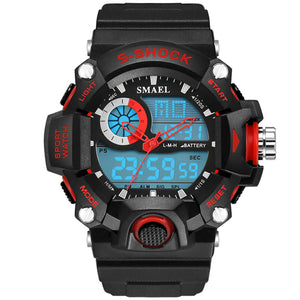 SMAEL 1385 S-Shock Sport Watch - Electronic Led Sport Wristwatch