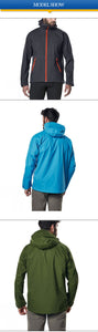 Men Waterproof Windproof Long Sleeve Softshell Lightweight Jacket