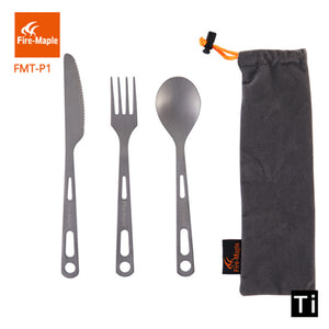 Fire Maple Outdoor Titanium Cutlery Set - Lightweight 3 pcs