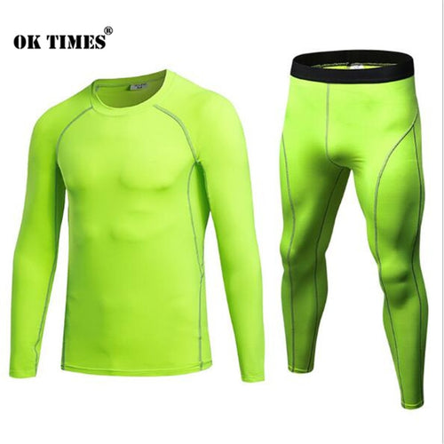Men's Athletic High Elasticity Compression Thermal Tights & Pants For Canyoneering