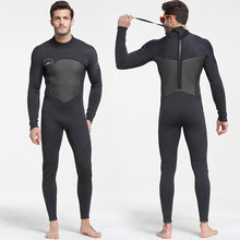 Load image into Gallery viewer, Men's Neoprene 5mm Black/Grey Wetsuit for Canyoneering