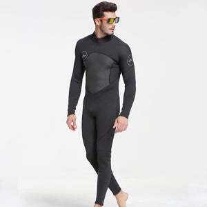 Men's Neoprene 5mm Black/Grey Wetsuit for Canyoneering