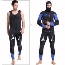 Load image into Gallery viewer, Premium Canyoneering Neoprene 5mm 2-Piece Wetsuit Black / Blue Full Body