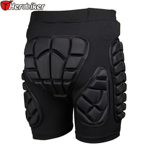 Black Short Protective Hip Protection Padded Shorts
