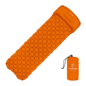 Outdoor Inflatable Utralight Canyoneering Sleeping Pad With Pillow