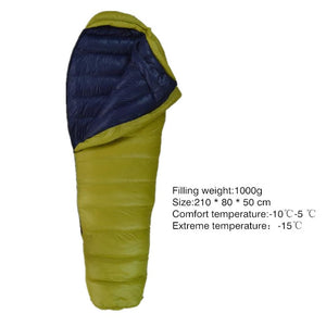 Winter Duck Down Ultralight Outdoor Mummy Bags