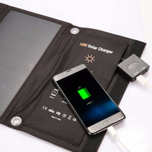 Load image into Gallery viewer, Xionel 15W Portable Solar Charger Waterproof Power Bank - Dual USB Ports