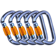 Load image into Gallery viewer, Canyoneering Carabiner Self Locking Gate 28kN - 15PCS - CE EN 362