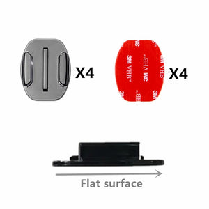 4 PCS Flat Curved Mount Set for Gopro Hero (7 6 5 4 3+ 2)