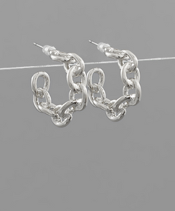 Chain Hoop Earrings Mini