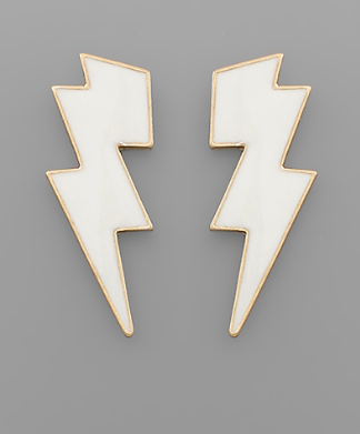 Struck Earrings - White