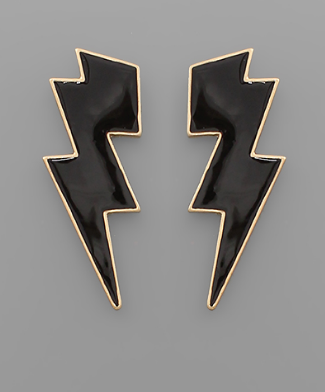 Struck Earrings - Black