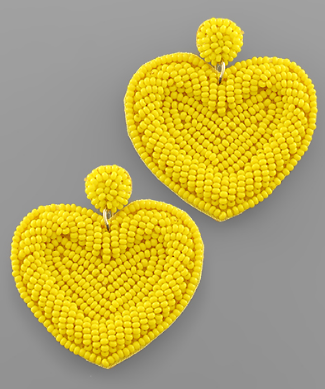 All My Love Earrings - Yellow