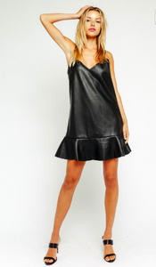 Leather Down Dress