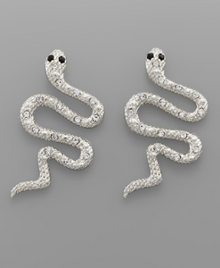 See You Later Snake Earrings