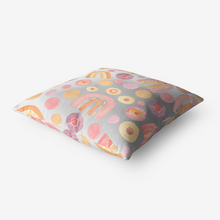 Rainbow Watercolor Home Goods Premium Hypoallergenic Throw Pillow