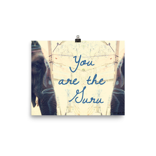 You are the Guru Elephant Poster