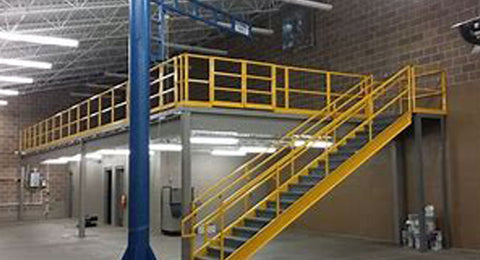 Mezzanine Building Stairs Side