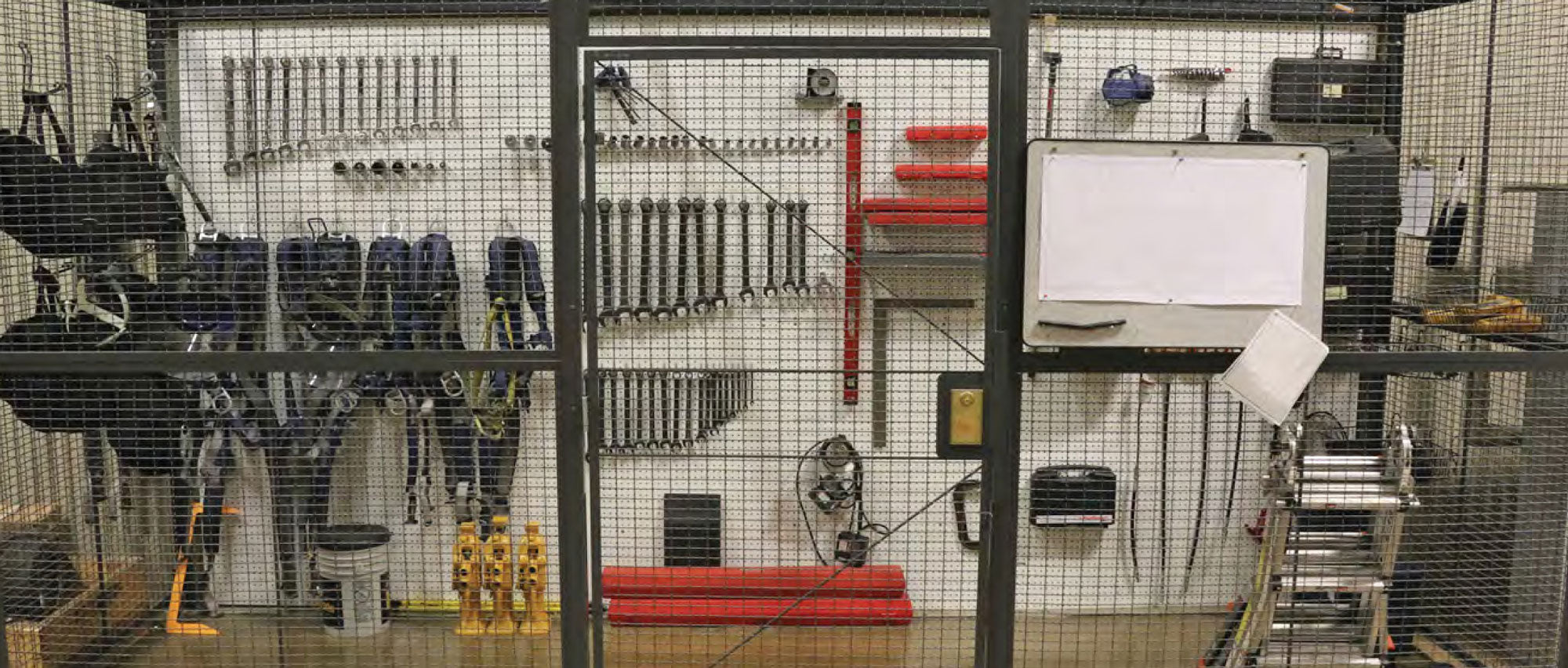 Wire Partitions Tool Storage