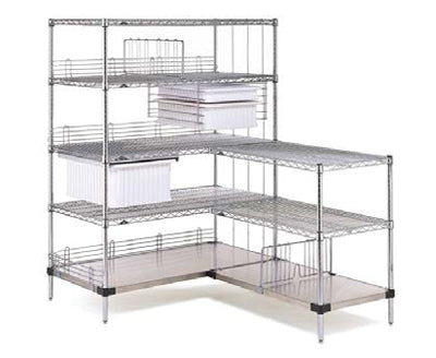 Wire Shelving Stationary L