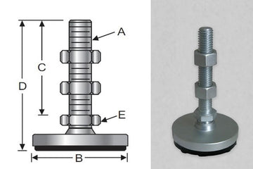 Low-Profile, Heavy-Duty Steel Base, Metric
