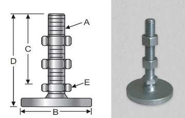 Low-Profile, Standard Steel Base, Metric