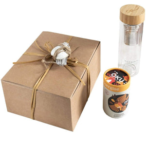 Corbin Rd Set Gift Set - Kawakawa Oku tea + Glass Flask