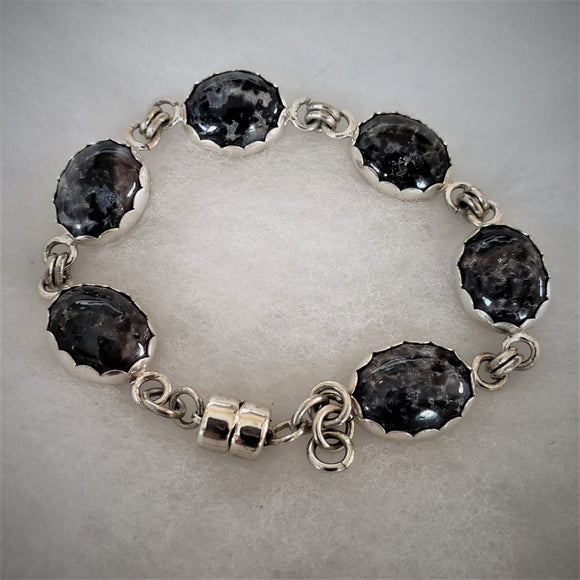 Sterling Silver and Agate Bracelet