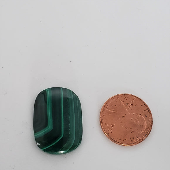 Tablet shaped Malachite Cabochon SKU M0059