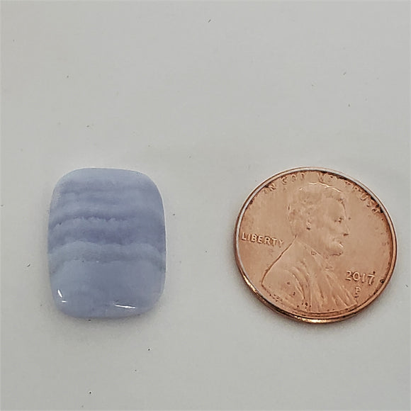 Cushion shaped Blue Lace Agate Cabochon SKU A0030