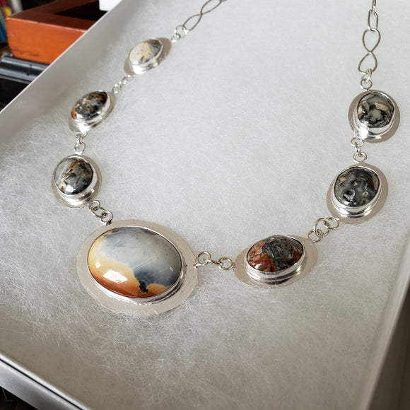 Maligano Jasper and Sterling Silver Necklace