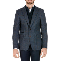 Giancarlo Sarto Mens Jacket Long Sleeves Dark Blue E