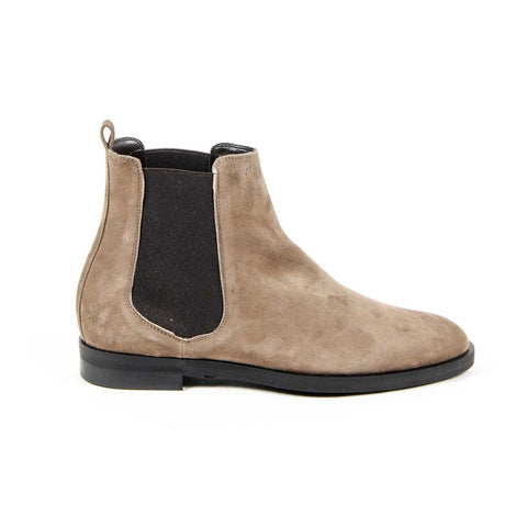 Versace 1969 Italia Womens Ankle Boot B1578 Velour Taupe