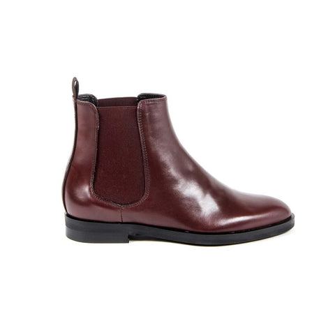 Versace 1969 Italia Womens Ankle Boot B1578 Vitello Bordo'