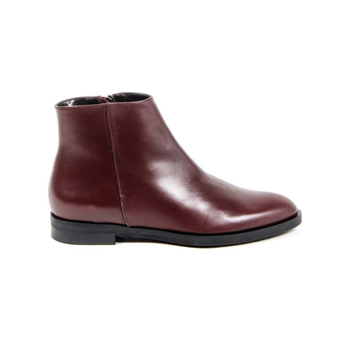 Versace 1969 Italia Womens Ankle Boot B1993 Vitello Bordo'
