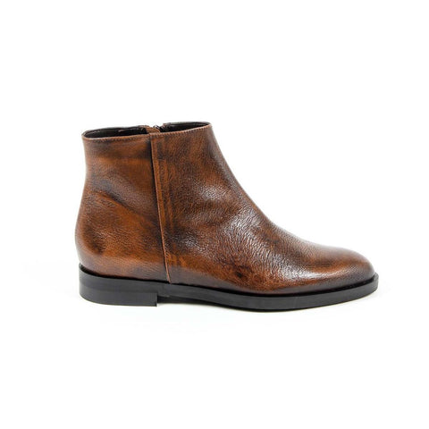 Versace 1969 Italia Womens Ankle Boot B1993 Vitello Bottolato Rust