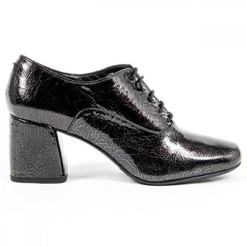 Versace 1969 Italia Womens Heeled Oxford Shoe B2461 Crash Nero