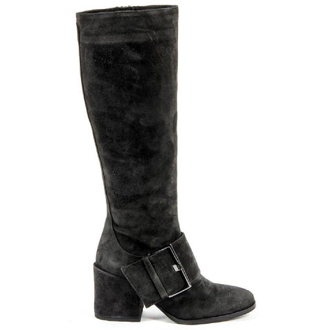 Versace 1969 Italia Womens High Boot B2395 Camoscio Smog