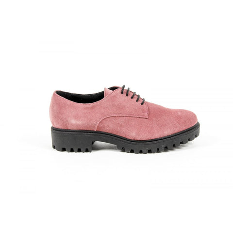 Versace 1969 Italia Womens Lace Up Shoe C01 Camoscio Fuxia