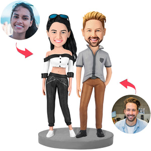 Modern Sexy Couple Custom Bobblehead